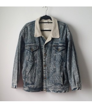 Acid denim jacket